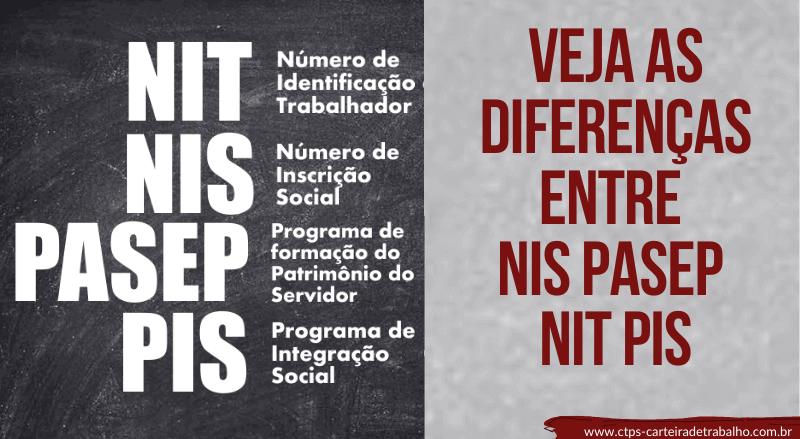 CTPS - Diferença - NIS NIT Pasep PIS