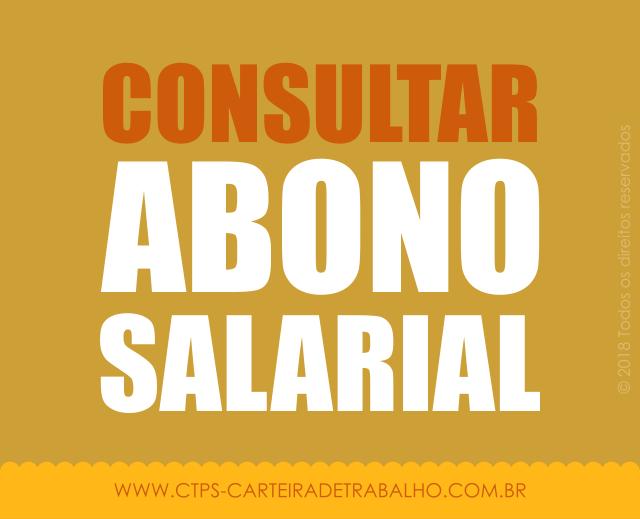 Como Consultar o Abono Salarial