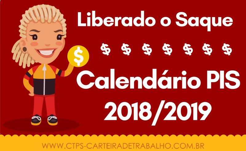 Calendário PIS 2018-2019