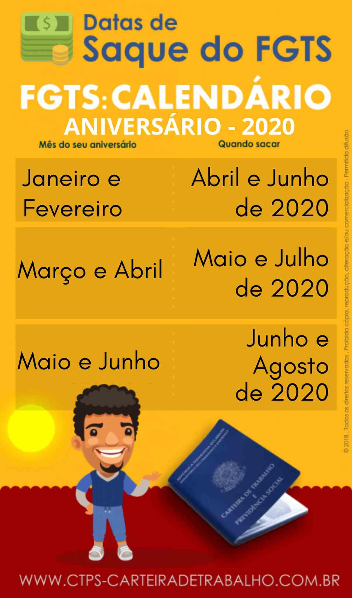 CALENDÁRIO FGTS ANIVERSÁRIO 2020_