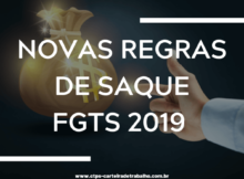 Regras do FGTS 2019