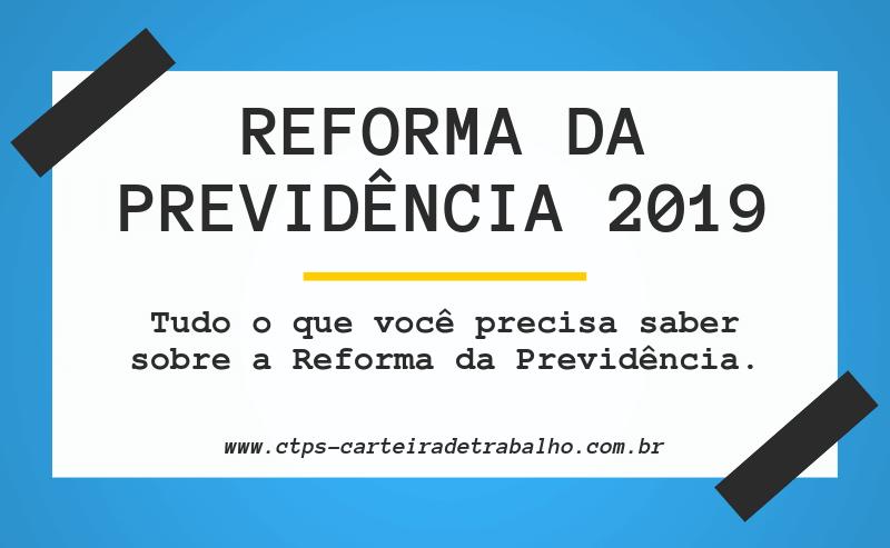 Reforma da Previdência 2019