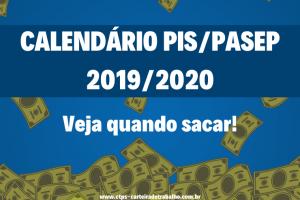 Calendário PIS 2019