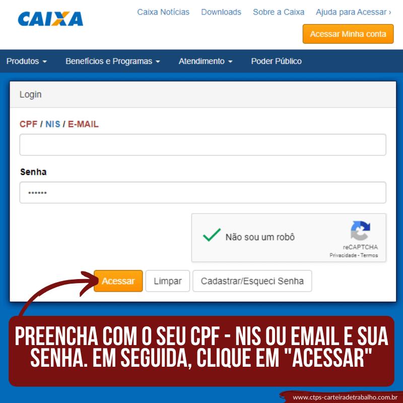 CTPS - CONSULTAR SALDO FGTS