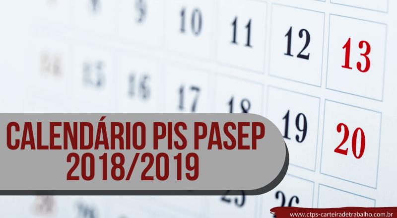 Pagamento PIS Pasep 2019 – Calendário PIS 2018-2019