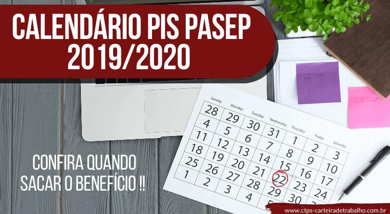 Calendário PIS/PASEP 2019/2020 – ATUALIZADO!