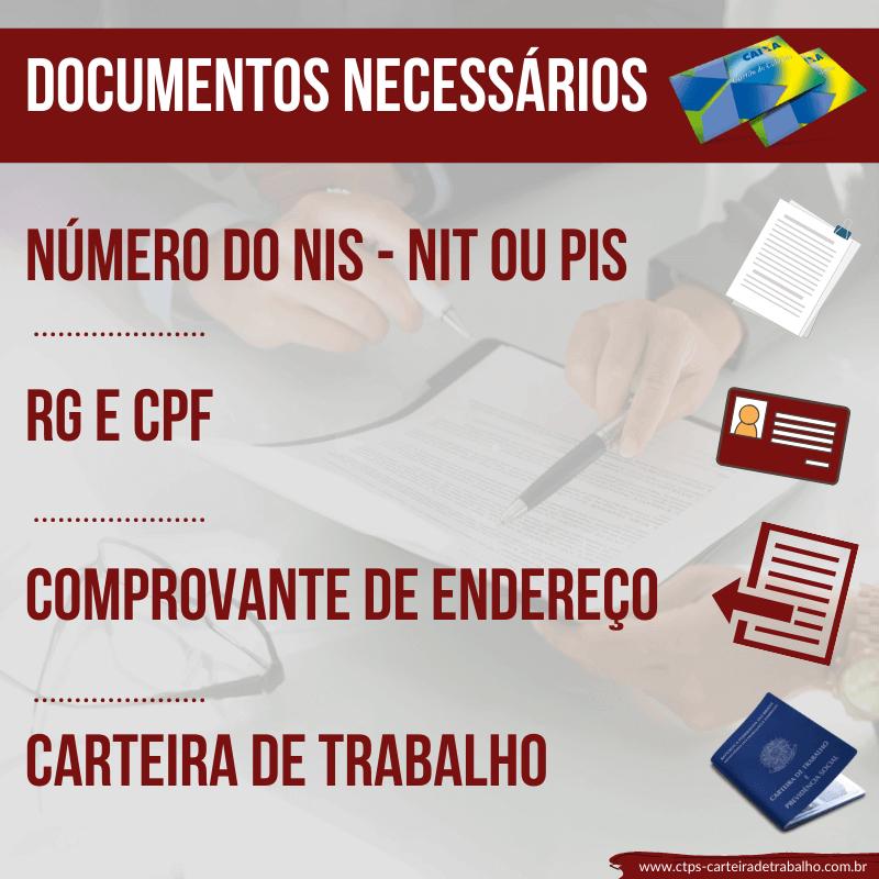 CTPS - Documentos Necessários do Cartão Cidadão