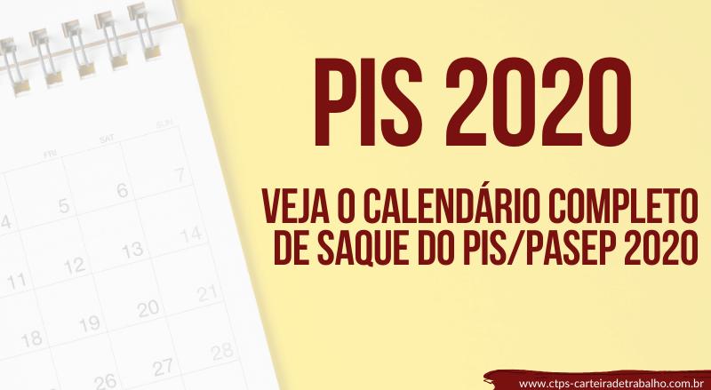 PIS 2020 – Calendário Atualizado PIS PASEP – Datas de Saque!