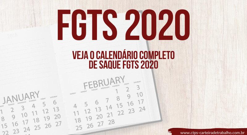 Calendário do FGTS 2020