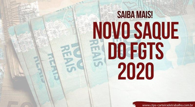 Novo Saque do FGTS 2020 – Saiba mais