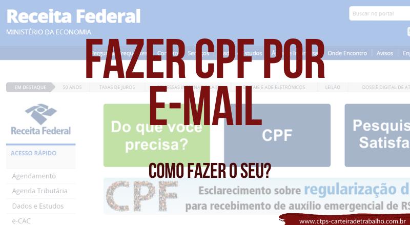 Fazer CPF por E-mail – Como fazer o seu?