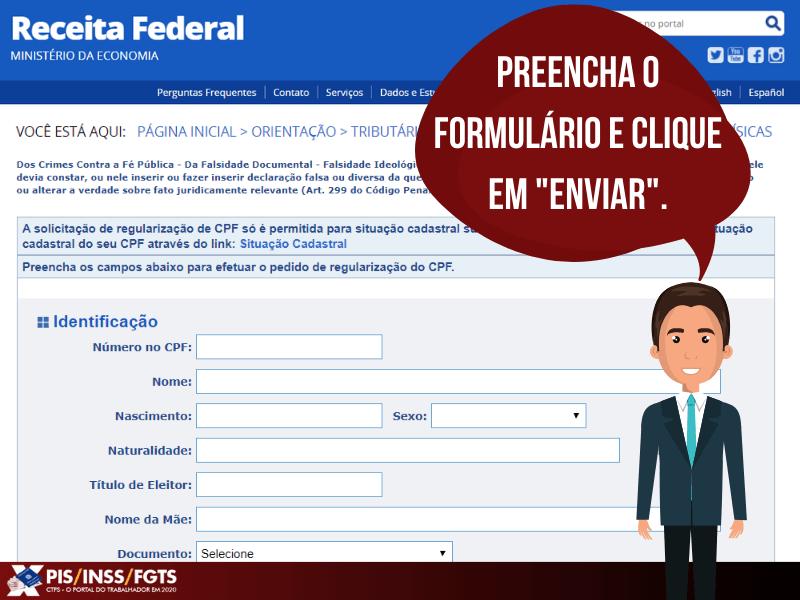 FORMULÁRIO CPF