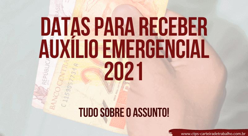 datas para receber auxílio emergencial